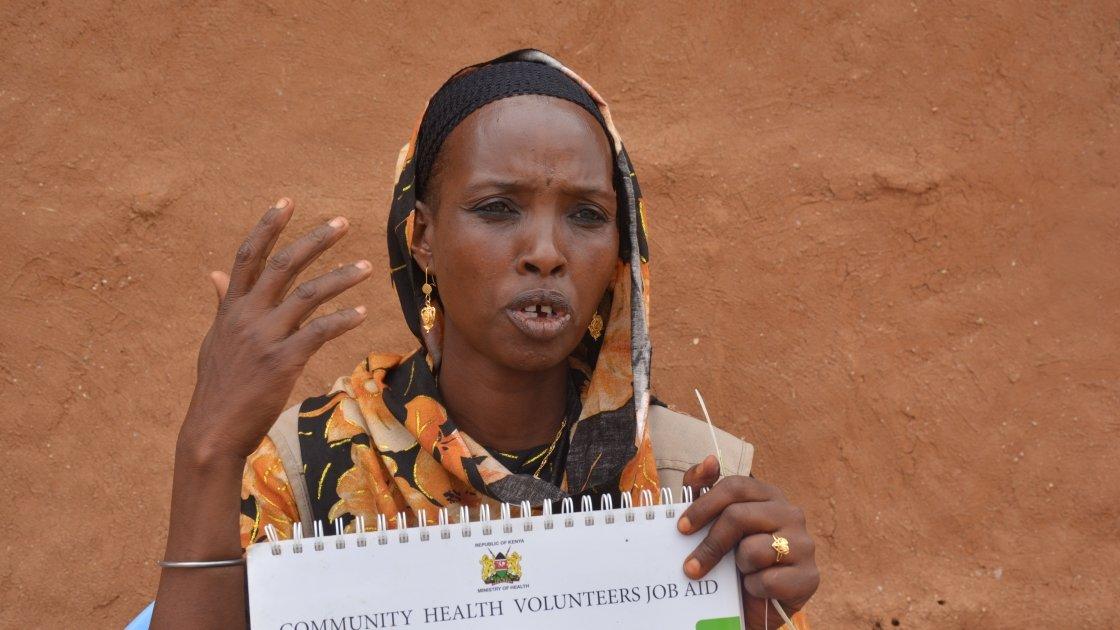 Halima is a Community Health Volunteer (CHV) trained by Concern in Kenya. Photo: Concern Woeldwide.