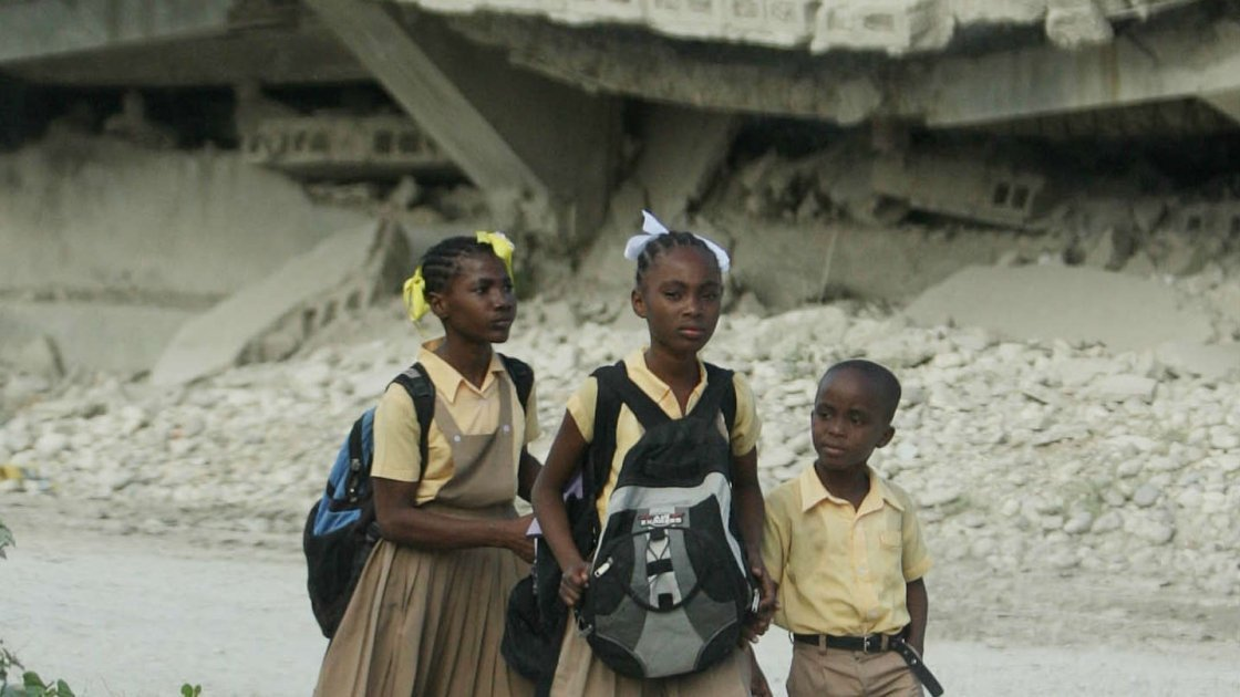 Destruction after the Haiti earthquake of 2010. Photo credit Niall Carson/PA Wire
