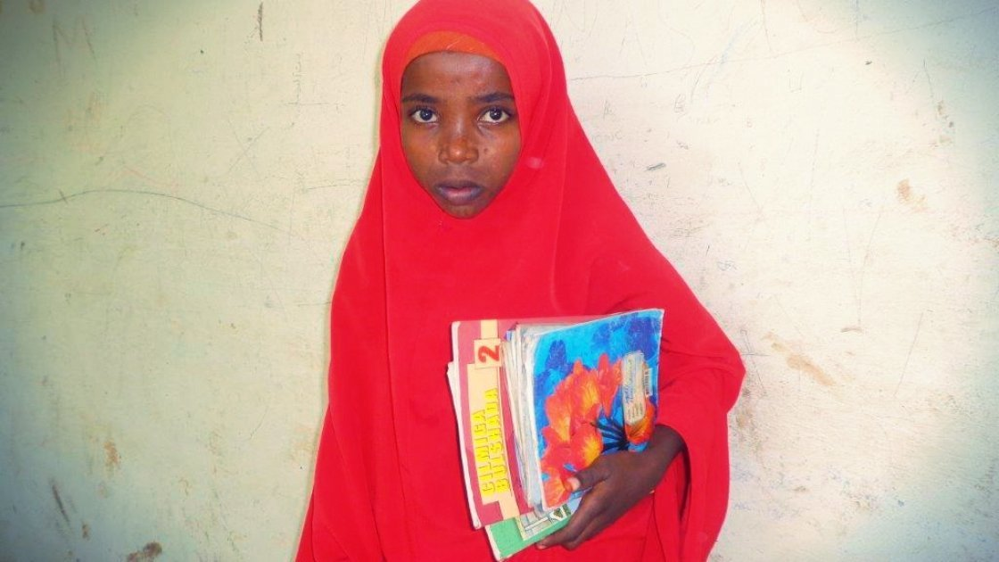 Faduma, a student at Darussalam Primary School who hopes to one day become a teacher. Photo by Concern Worldwide