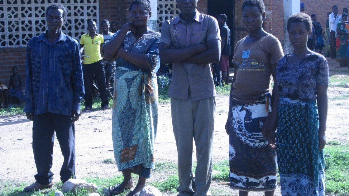 The Makitchansi family whose farm has been destroyed by recent floods in Malawi. Photo by: Fumbani Chihana, Concern Worldwide.