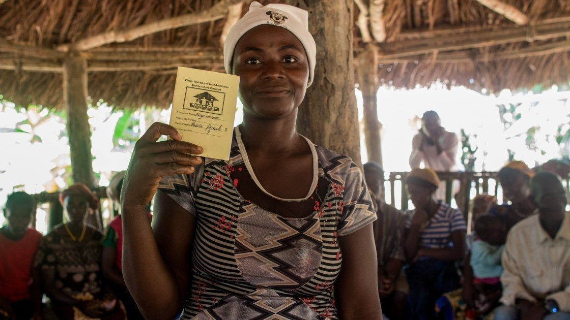 Hawa is a member of a Concern-supported Village Savings and Loan Association (VSLA) in Sierra Leone. The loan she received empowered her to start a small business. Photo: Concern Worldwide.