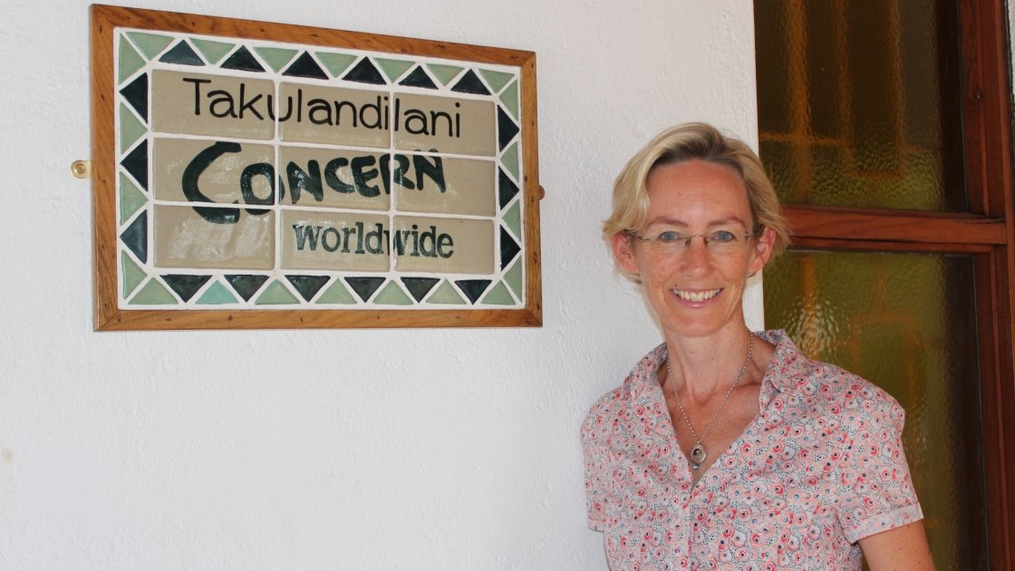 Concern Country Director in Malawi, Caoimhe Debarra at the Concern office in Lilongwe. Photo by Concern Worldwide.