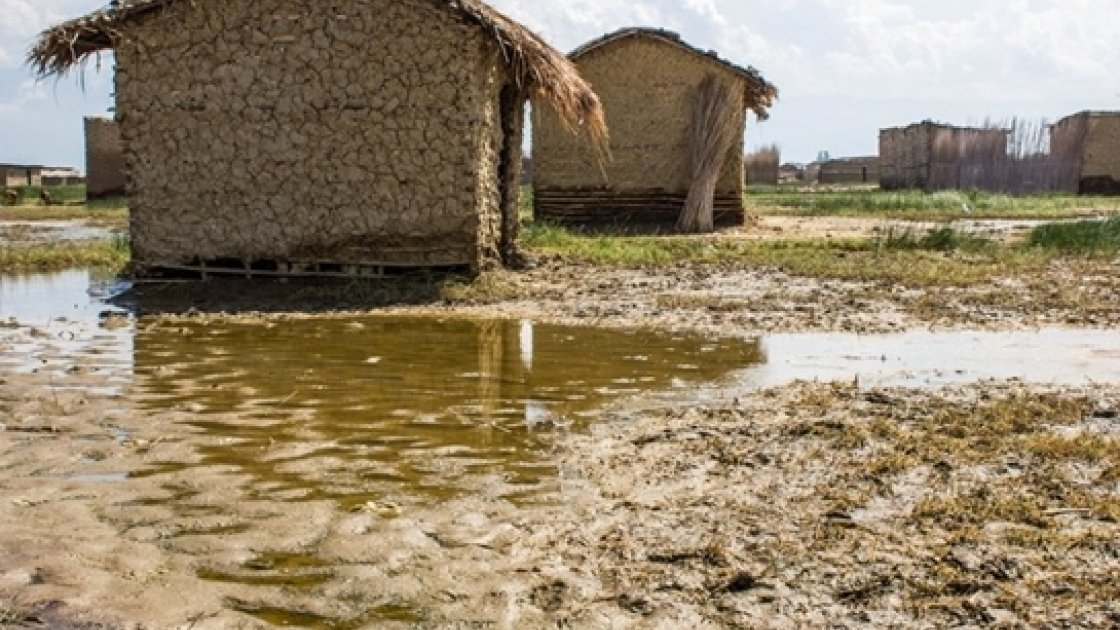 Solange's village one month on from the flooding, houses were washed away and rendered uninhabitable by flood waters. Photo taken by Irénée Nduwayezu/Concern Worldwide.