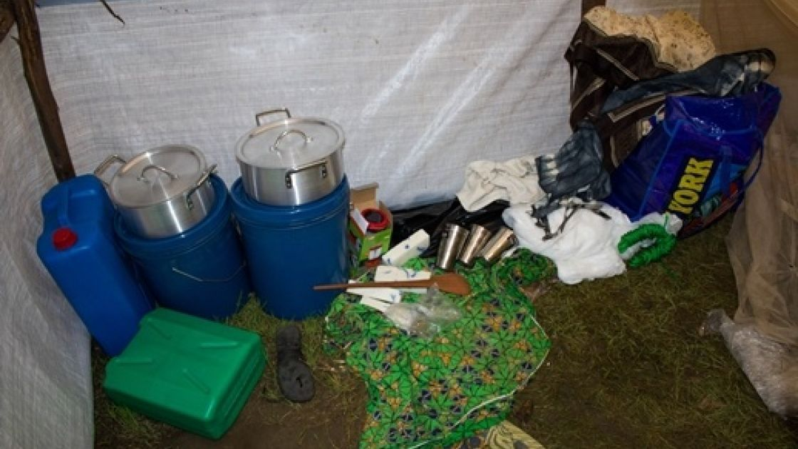 Solange's kit contains non-food items to help lessen the hardship of having lost her livelihood and home to the flood. Photo taken by Irénée Nduwayezu/Concern Worldwide.