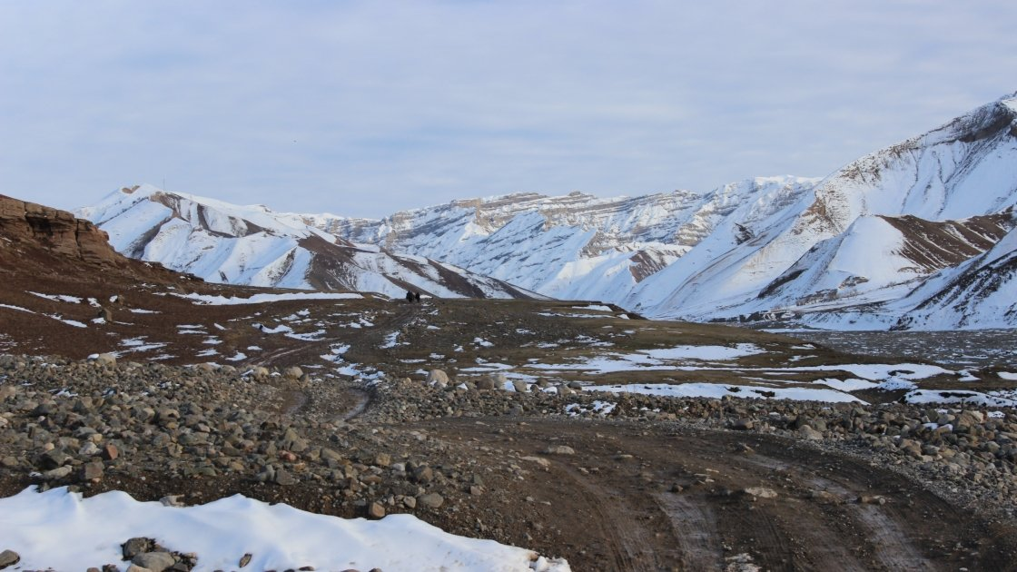 The road to Cha'Ab in northeastern Afghanistan along a river sub basin. Photograph: Concern Worldwide.
