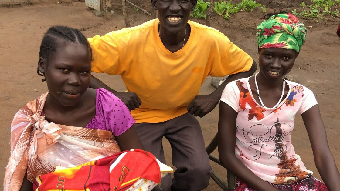 Nyakuma, Much and Christmas have all been displaced by war in South Sudan and have sought refuge in Gambella, Ethiopia. Photo: Clare Ahern / Concern Worldwide