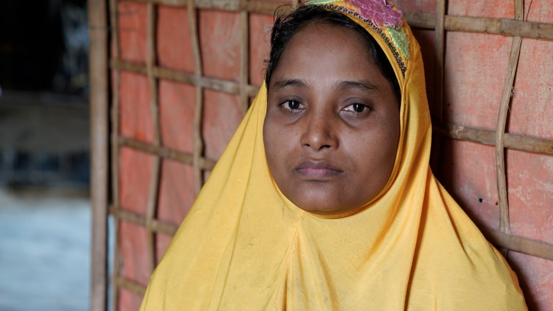 Shaju* watched on as her husband was killed by the Myanmar army. Photo: Concern Worldwide