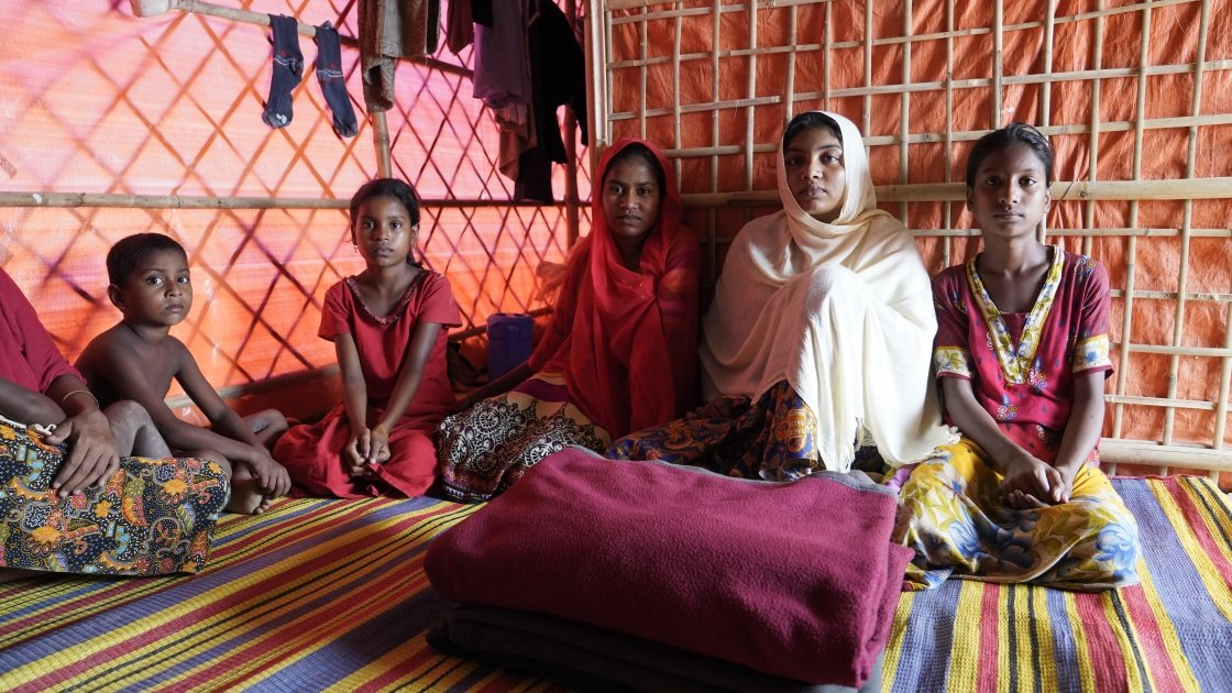 Lukia* and her family. Photo: Concern Worldwide