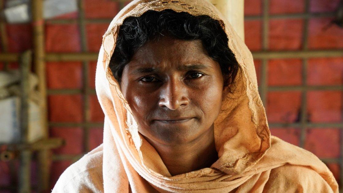 Menara's* family survived their 16-day trek to safety. Photo: Concern Worldwide