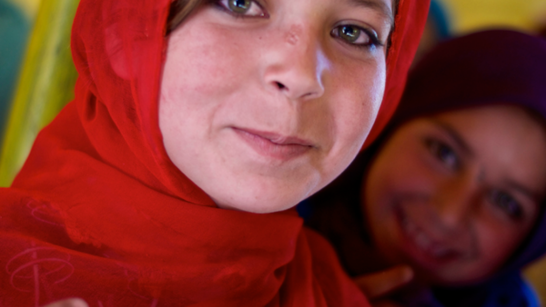 Aisha dreams of being a teacher when she grows up. Photo taken by Concern Worldwide.