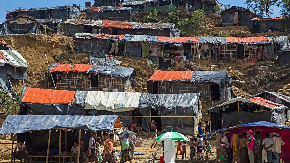 Moynardhona refugee camp in Cox's Bazar, Bangladesh. Photo: Kieran McConville/Concern Worldwide.