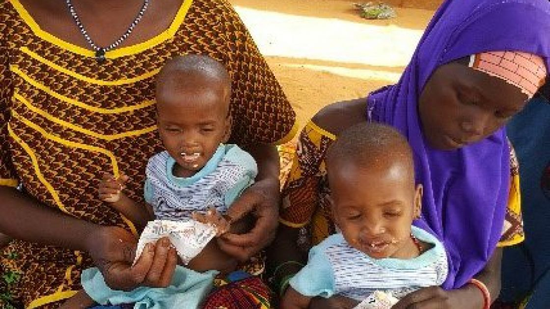 Zouleha with her 12 month old twins; Hassana and Ouesseina. Photo by Concern Worldwide.