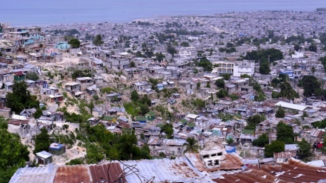 View over Grand Ravine, Port-au-Prince, Haiti. Photo: Kieran McConville / Concern Worldwide.