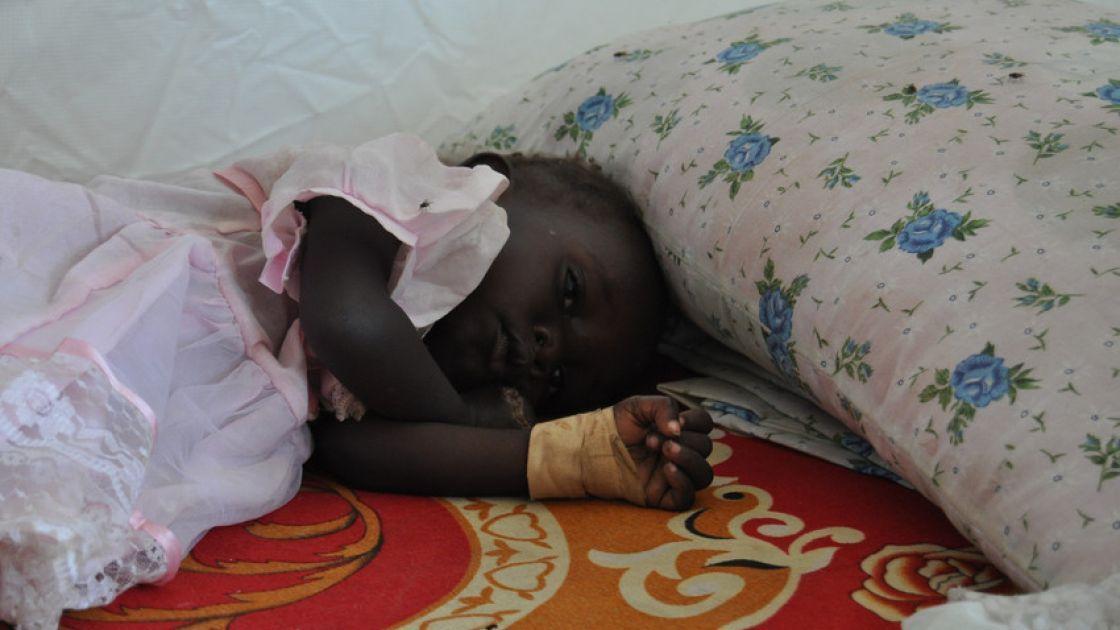 16-year-old Nyaruach's 18-month-old baby, Nyakuma. Photo: Concern Worldwide.