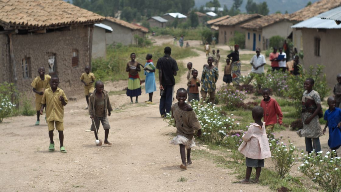 "The village of Gafumba, Rwanda, where Concern is implementing the 'Graduation programme' which is helping participants ""graduate"" out of poverty. Photo: Cheney Orr / Concern Worldwide."