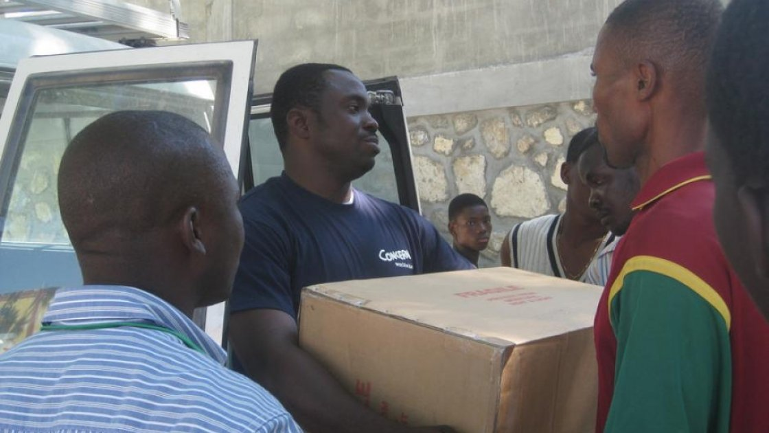 Concern staff member Jeanfrenel Tham in Haiti. Photo: Concern Worldwide.