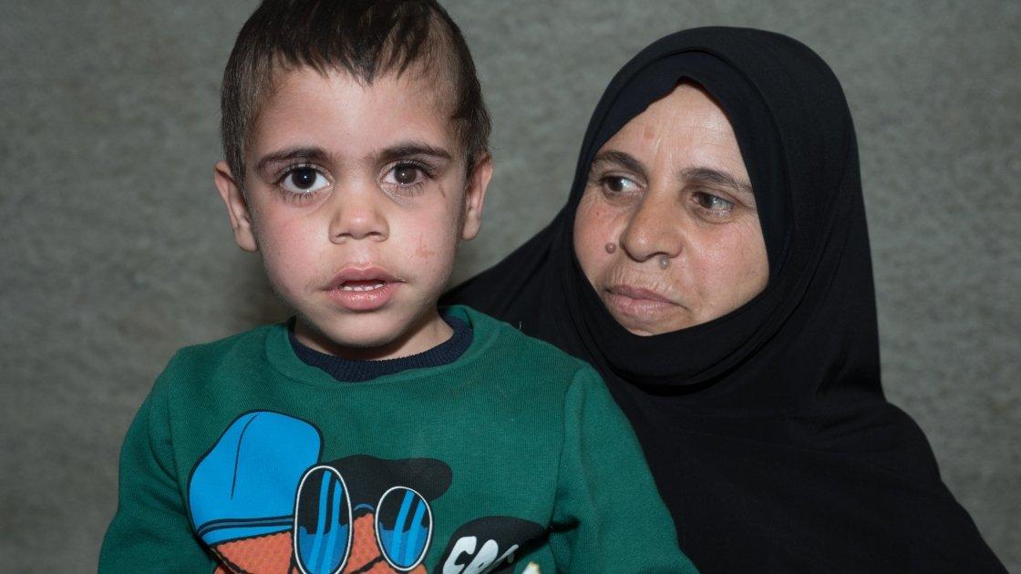 Leena and her four-year-old grandnephew Sami.