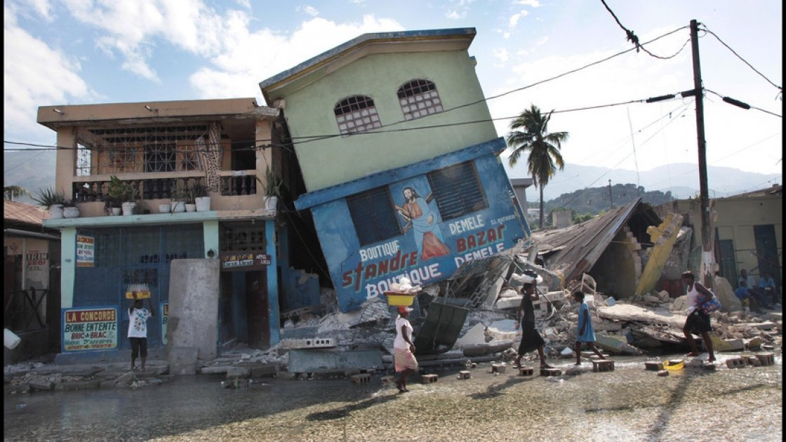 Destruction in Port-au-Prince, Haiti after the earthquake in 2010. Photo: Brenda Fitzsimons.