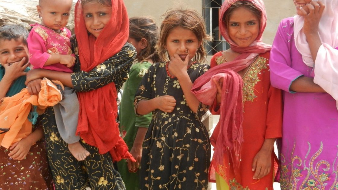 Beneficiaries of Concern's shelter project in the village of Bilal Dal, Punjab, Pakistan, 2011. Photo: Concern Worldwide.