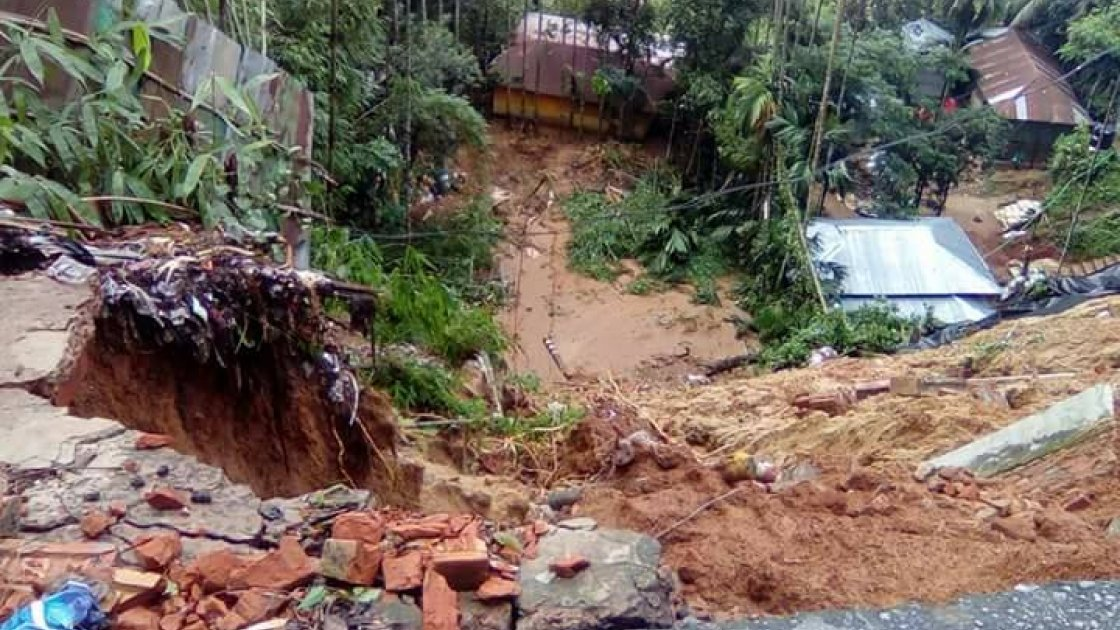 The effects of devastating landslides in Chittagong, south eastern Bangladesh, which have killed at least 135 people and left thousands homeless. Photo: Young Power in Social Action (YPSA).
