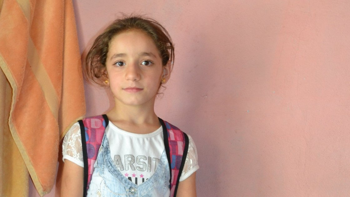 Amira is part of Concern's ECHO-funded Children of Peace programme supporting education for refugees in Turkey. Photo taken by Fionnagh Nally/Concern Worldwide.