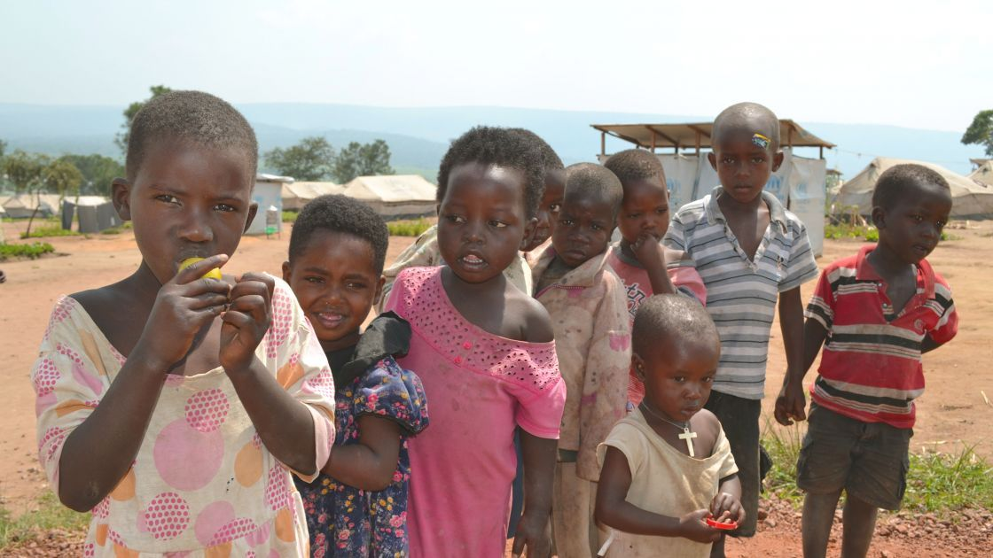 Burundian refugee children who are members of the Concern nutrition programme in Mahama camp, Rwanda. Photo: Donna Ajamboakaliza / Concern Worldwide.