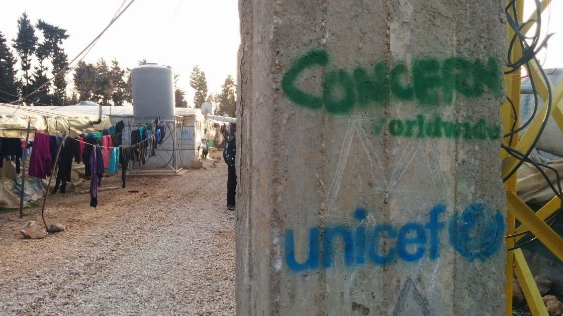 Concern and Unicef-supported Syrian refugee settlement in northern Lebanon. Photo: Concern Worldwide.