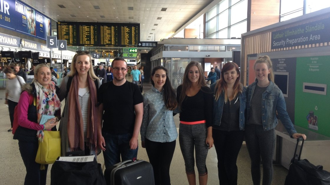 A quick group shot before we boarded the plane for a lifechanging trip. Photo taken by Saoirse Power, Brianna Walsh, Caoimhe Cummins and Beatrice Kelly
