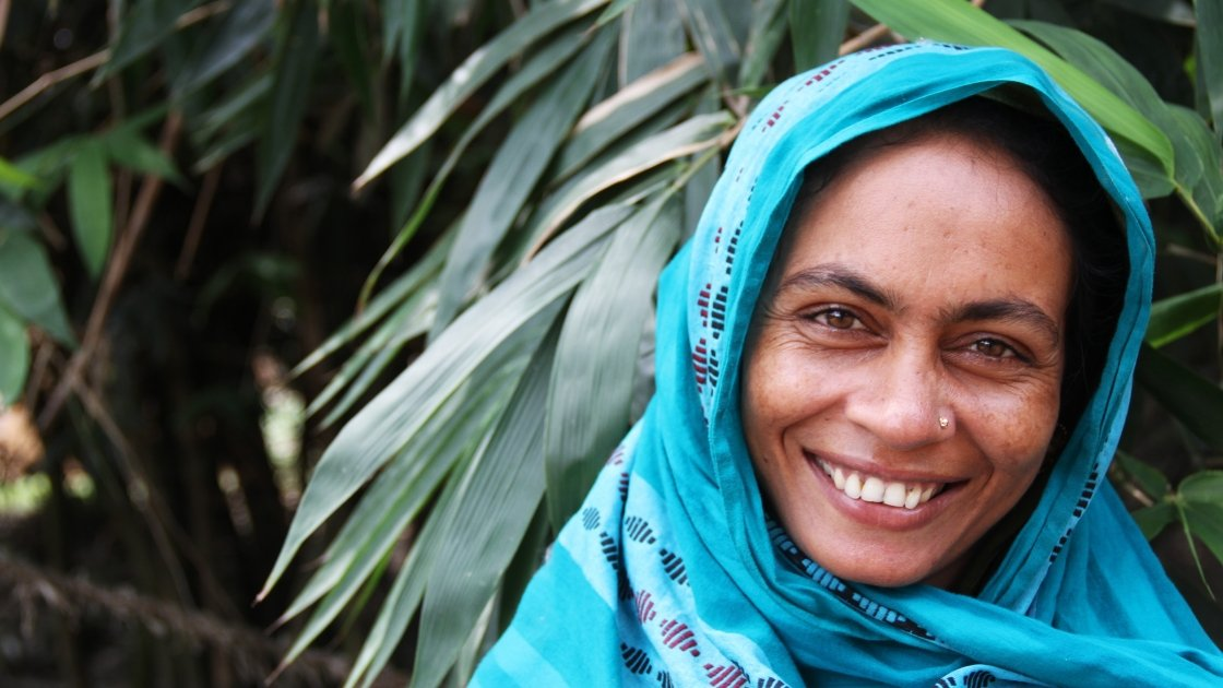 Kulsum Begum farmer. mother of three & participant in Char Integrated Programme (CIP) in Bangladesh. Photo: Sadia Hossain/Concern Worldwide.