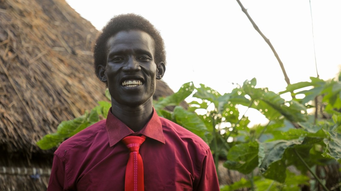 Much Gony is a refugee of war for the scond time in his live. On both occasions he has been offered refuge and support in Ethiopia. Photo: Jennifer Nolan / Concern Worldwide