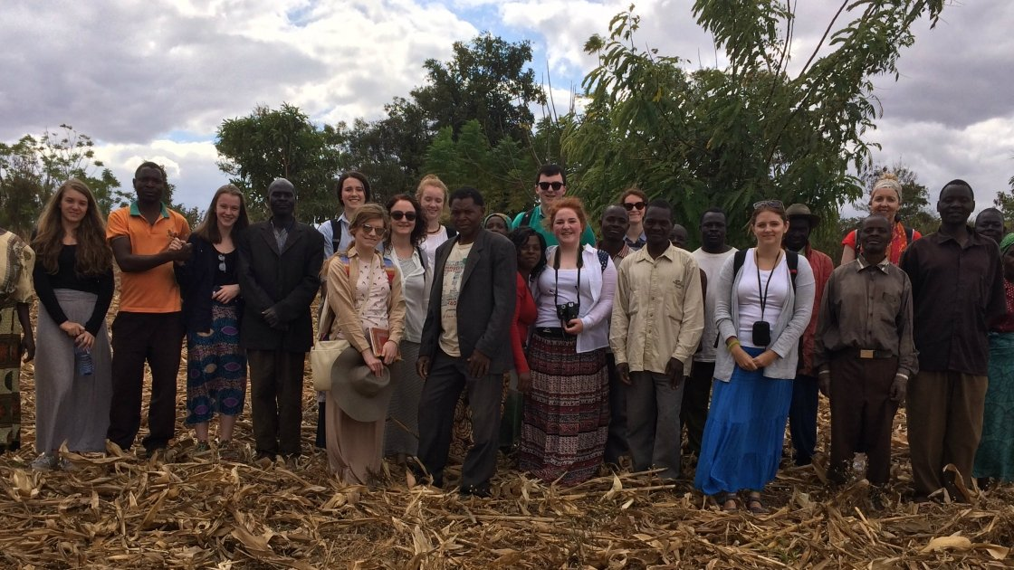 Cross and Passion College students pictured in Malawi.