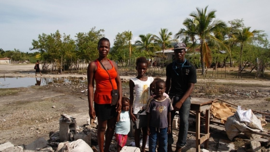 The Cato family in Haiti. Photo: Concern Worldwide