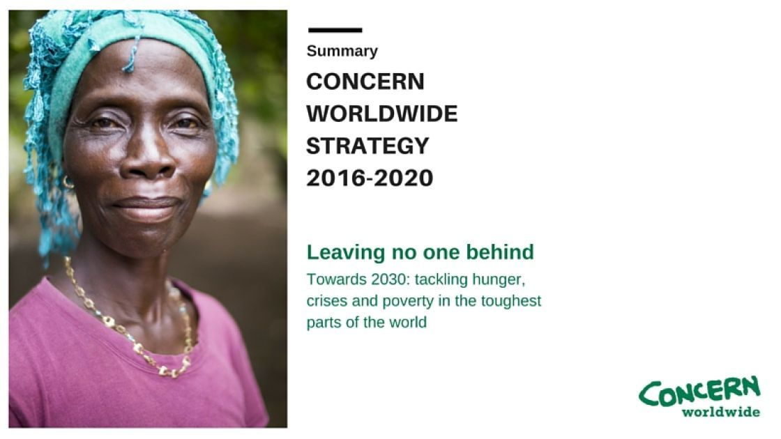 Cover image from Concern Worldwide Strategy 2016-2010.