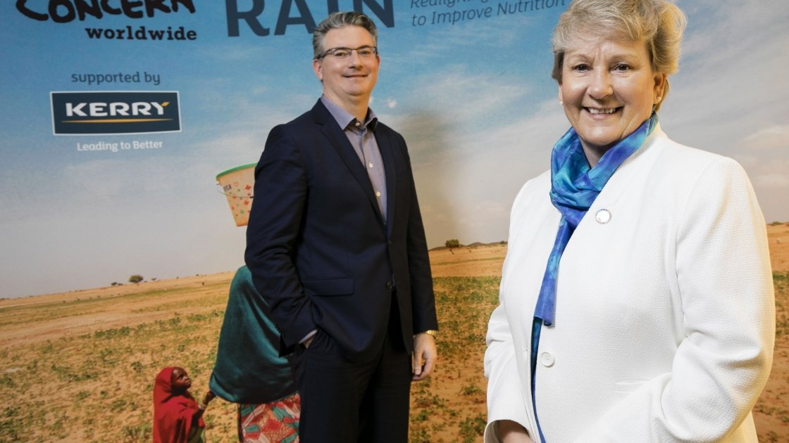 Left to right - Kerry Group Chief Executive, Edmond Scanlon and Concern Worldwide International Programme Director, Anne O'Mahony announce four-year project to  improve food security and nutrition in Niger.