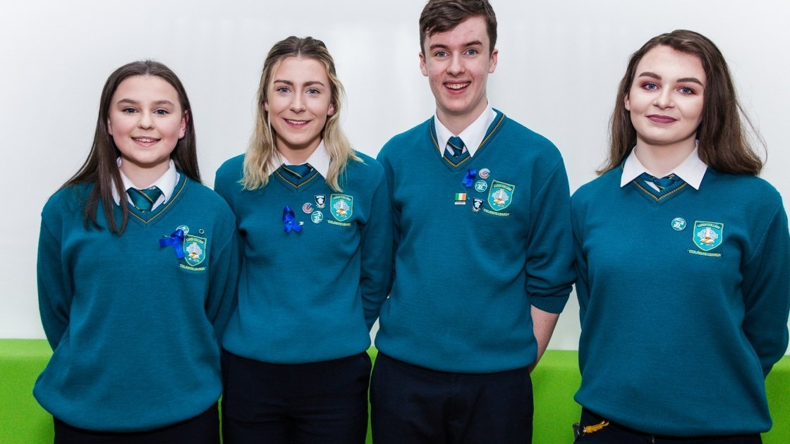 Largy College debaters Ruth Madden (Captain), Abigail McGuirk, Aaron McMahon, Carla Rafferty
