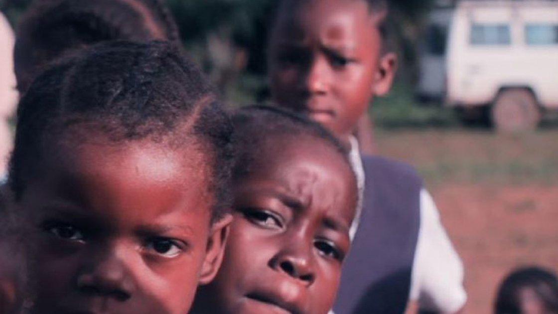 """Schoolchildren in Grand Bassa County, Liberia. Still from """"Education in Liberia: Concern's approach"""". Credit: Studio Say So."""