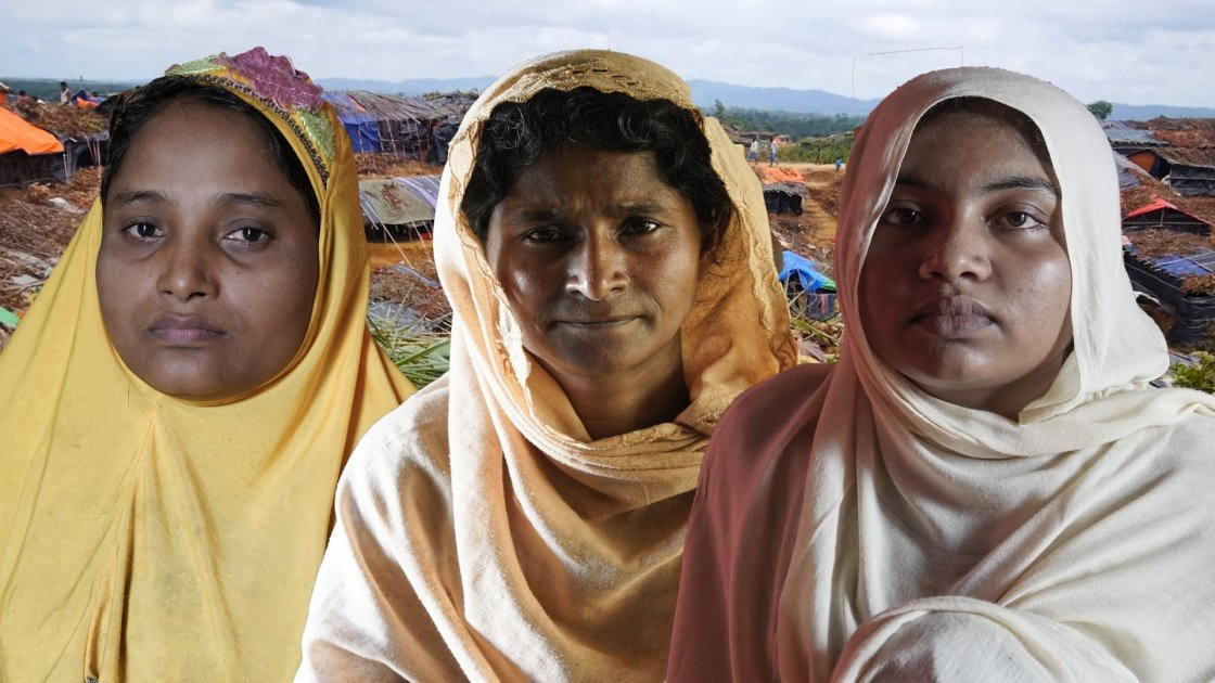 These three Rohingya women are now refugees in Bangladesh. Photo: Concern Worldwide