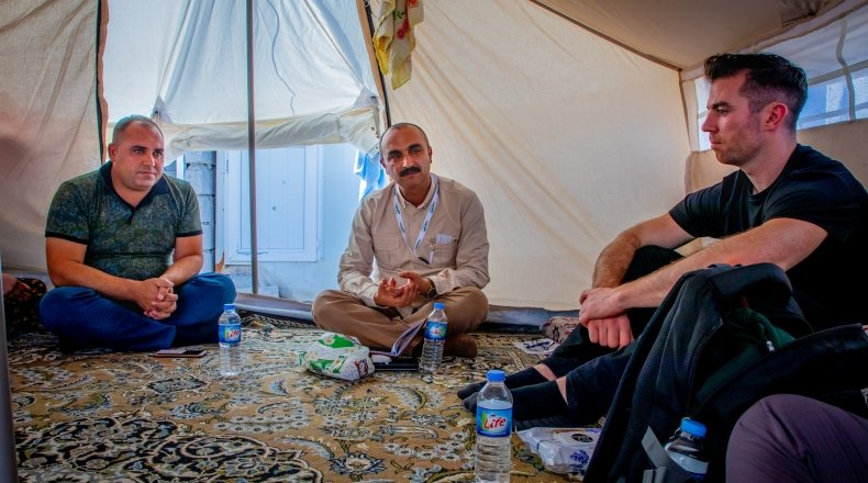 Michael Darragh Macauley meets Syrian refugees in Lebanon
