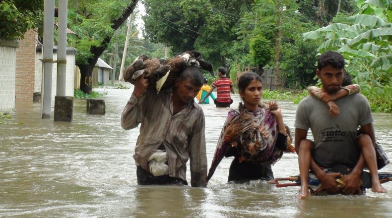 Heavy rain triggers deadly flooding in the North and North Eastern 14 districts of Bangladesh in August 2017. Photo: Kazi Altab / Concern Worldwide.