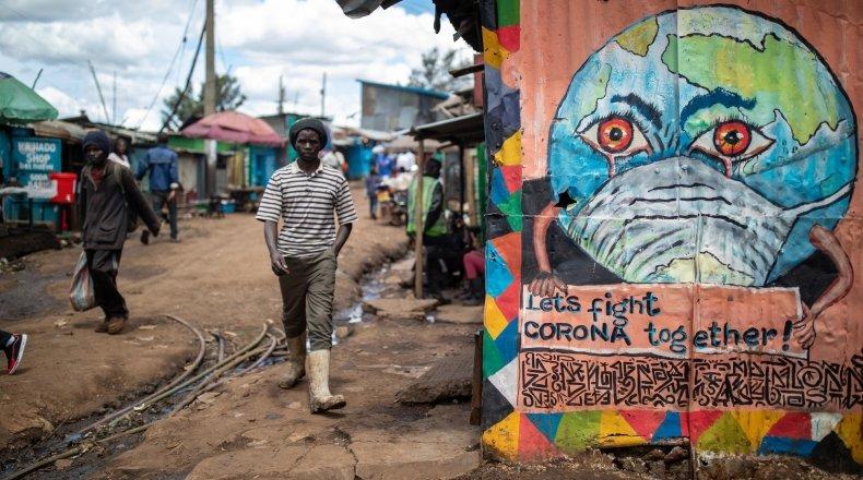 Mural in Nairobi, Kenya.