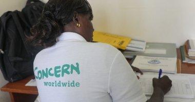 Community Health Volunteer Isabelle writing up her notes in Mukuru Health Centre in Kenya. Photo: Jennifer Nolan / Concern Worldwide.