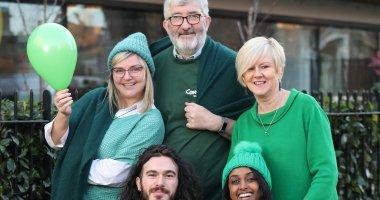 Ausra Ziurinskaite, Joe Jennings, Teresa Hanafin, Graham Coogan and Hermon Weldemariam at the launch of Concern's Go Green campaign. Photo: Jason Clarke