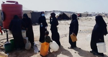 Continuing COVID -19 awareness raising campaign in a camp in northern Syria