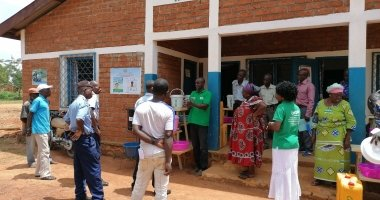 As a preventative measure to Covid-19 Concern Worldwide hosted an awareness building session including a hand washing demonstration, at the office of the mayor, Bossembele, Ombella M'Poko, Central African Republic