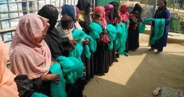 Net distribution among Rohingya participants for home gardening. Bangladesh Photo: Taslim Anwar /Concern Worldwide