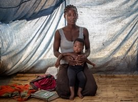 Emily Zebia and her baby daughter had to flee her home when the Cyclone Idai hit Malawi. Photo: Gavin Douglas/ Concern Worldwide.