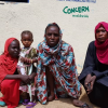 Gisma, mother to 2 year old Yageen who was successfully treated for severe malnutrition by our team in Sudan.