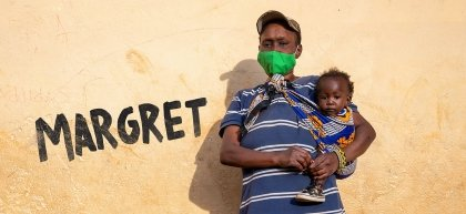 Margret and Charlyne live in Kibera slum in Nairobi, Kenya.