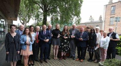 Recipients of the 2018 Concern Volunteer Awards with Concern co-founder John O'Loughlin Kennedy. Photo: Jason Clarke/Concern Worldwide.