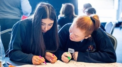 Students taking part in Concern's annual Agents of Change event in Croke Park. Photo: Ruth Medjber/ Concern Worldwide.